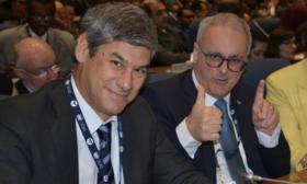 Il direttore generale dell'Enac Alessio Quaranta; il presidente dell'Ente Nicola Zaccheo